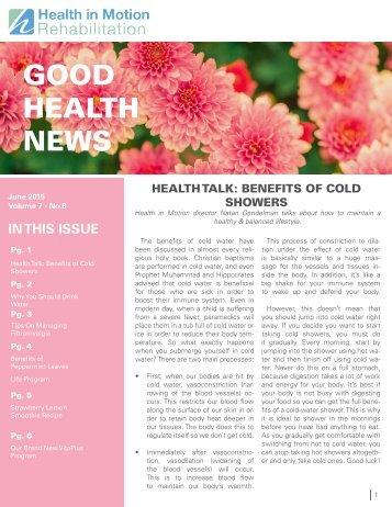 Good Health News - June 2015