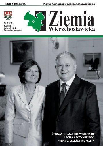 Ziemia Wierzchosławicka - nr 1(71) - kwiecień 2010 - plik PDF