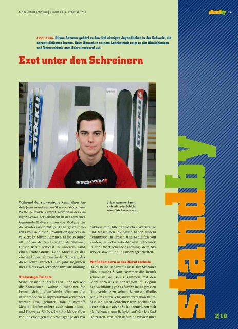 Bericht aus der Schreinerzeitung - Wagner & Skibauer