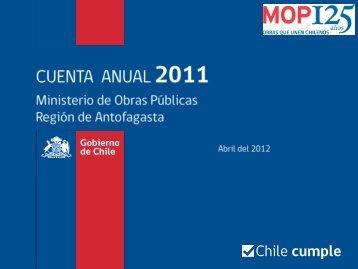 Cuenta Pública Antofagasta 2011 (5,33 Mb. PDF) - MOP