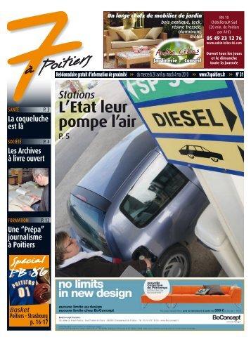 n° 31 voir ce numéro - 7 à Poitiers
