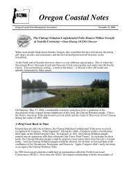 November 21, 2006 - Oregon Coastal Zone Management Association
