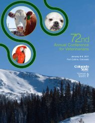 Conference Schedule - Colorado State University College of ...