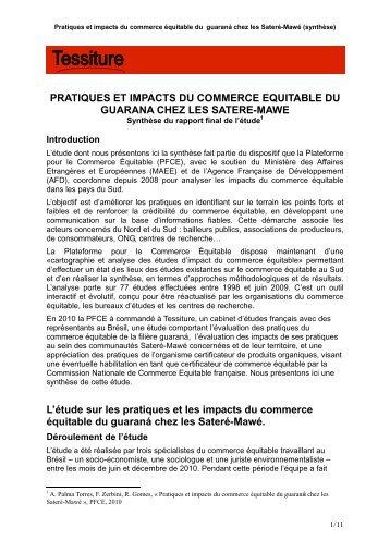 Satéré Mawé - la Plate-Forme pour le Commerce Équitable