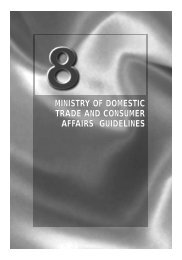 ministry of domestic trade and consumer affairs guidelines