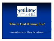 Who Is God Waiting For? - City on a Hill