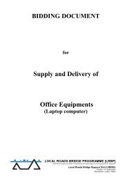 Supply and Delivery of Office Equipments - Lrbpnepal.org