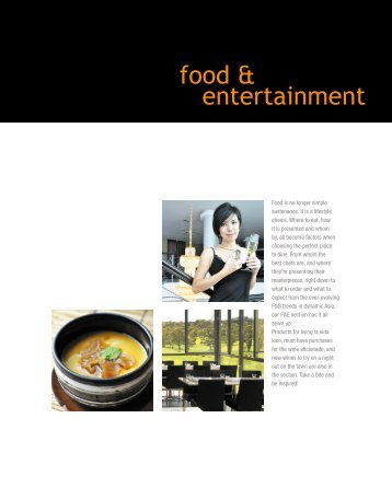 food & entertainment - Hospitality Asia Magazine