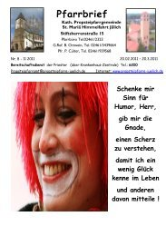 Pfarrbrief - Propsteipfarrgemeinde St. Mariä Himmelfahrt, Jülich
