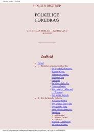 FOLKELIGE FOREDRAG - herthoni.dk