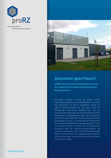Datacenter goes Future! - proRZ