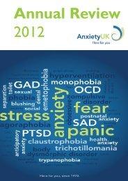 2012 Anxiety UK Annual Report