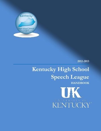 2012-2013 - Kentucky High School Speech League