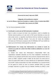 Prise de position relative à l'intégration du notariat ... - CNUE