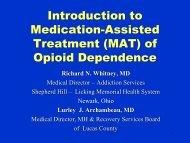 J Intro to MAT of - Ohio County Behavioral Health Authorities