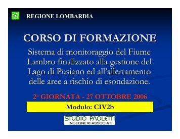CORSO DI FORMAZIONE - Regione Lombardia