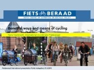 Benefits, ways and means of cycling