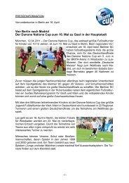 Von Berlin nach Madrid Der Danone Nations Cup zum ... - Berliner SC