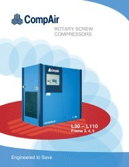 CompAir L30 - L110 40 to 150 HP - Compressed Air