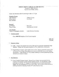 SPRUCE GROVE LIBRARY BOARD MEETING October 21 ... - Agenda