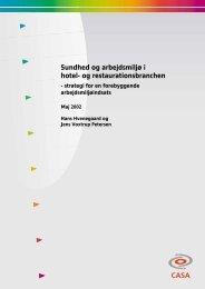 Sundhed og arbejdsmiljø i hotel- og restaurationsbranchen - 3F