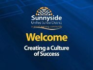 Creating a Culture of Success - Sunnyside Unified School District