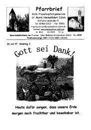 Pfarrbrief vom 26.09.2004 - Propsteipfarrgemeinde St. Mariä ...