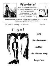 Pfarrbrief vom 31.08.2003 - Propsteipfarrgemeinde St. Mariä ...