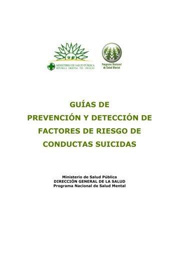 Guia de prevención y detección de factores de riesgo conductas suicidas
