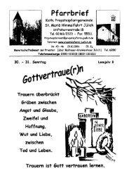 Pfarrbrief vom 29.10.2006 - Propsteipfarrgemeinde St. Mariä ...