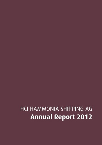 Annual Report 2012 - hci hammonia shipping ag