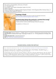 Psychology & Health Emotional eating - Self-Regulation Laboratory