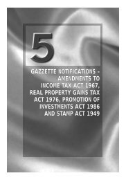 gazzette notifications – amendments to income tax act 1967, real