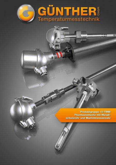 10 - TMM // Thermoelemente mit Metallschutzrohr und eingebautem ...