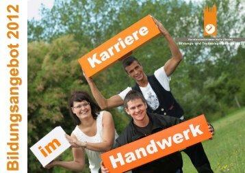Bildungsangebot 2012 mit Deckblatt - Handwerkskammer Halle