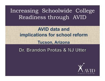 AVID National Conference show - Sunnyside Unified School District