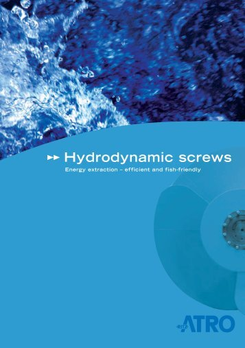 Hydrodynamic screws - Cee-Environmental