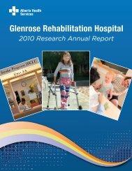 2010 Research Annual Report - Alberta Health Services