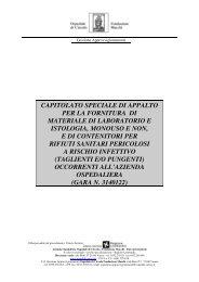capitolato speciale di appalto per la fornitura di materiale di ...
