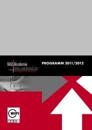 Programm 2011/2012 - Bauakademie Wien