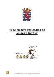 Vade-mecum des camps de jeunes à Durbuy - PSSP - Marche-en ...