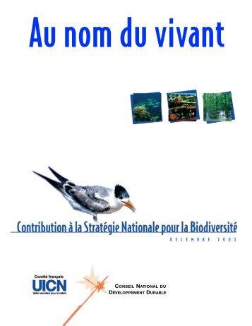 Contribution à la Stratégie Nationale sur la Biodiversité