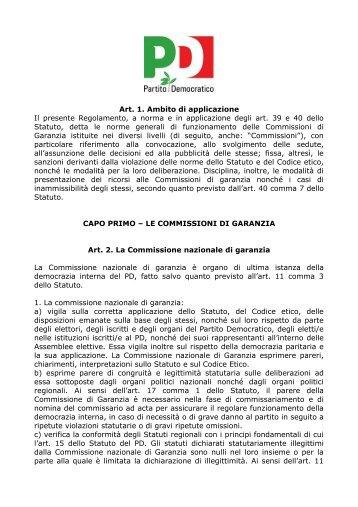 Regolamento Commissioni di Garanzia nazionale - Amazon S3