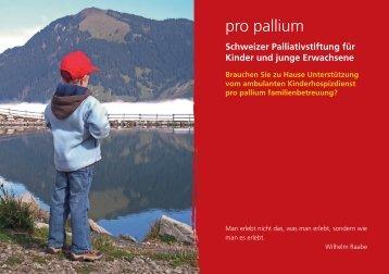 Flyer pro pallium familienbetreuung