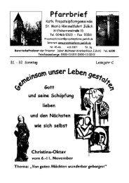 Pfarrbrief vom 04.11.2007 - Propsteipfarrgemeinde St. Mariä ...