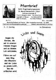 Pfarrbrief vom 25.01.2009 - Propsteipfarrgemeinde St. Mariä ...