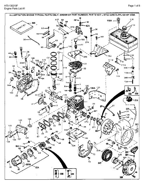 diagram(s) and or partslist(s) barrett small engine Small Gas Engine Diagram
