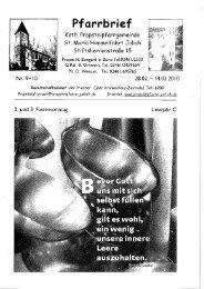 Pfarrbrief vom 28.02.2010 - Propsteipfarrgemeinde St. Mariä ...