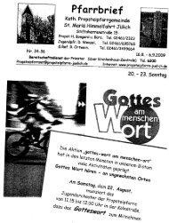 Pfarrbrief vom 16.08.2009 - Propsteipfarrgemeinde St. Mariä ...