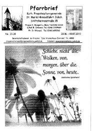 Pfarrbrief vom 20.06.2010 - Propsteipfarrgemeinde St. Mariä ...
